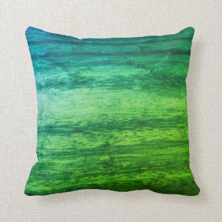 緑の木製の質 クッション