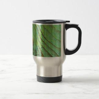 緑の木製の質 トラベルマグ