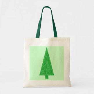 緑の木。 クリスマス、もみ、常緑の木 トートバッグ