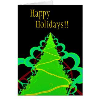 緑の木。 フラクタルArt. カード