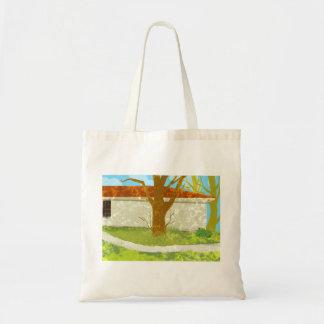 緑の村の家のバッグ トートバッグ
