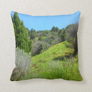 緑の枕の眺め クッション