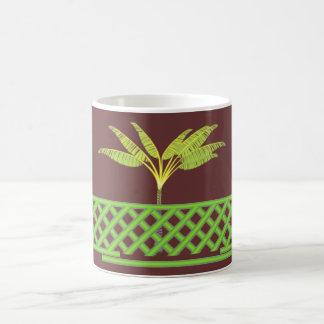 緑の格子マグ コーヒーマグカップ