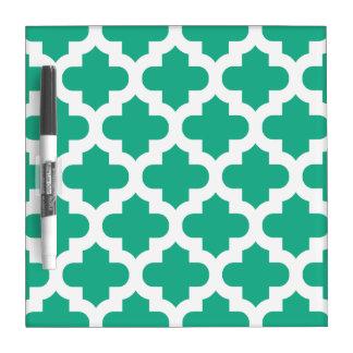 緑の格子垣のホワイトボード ホワイトボード