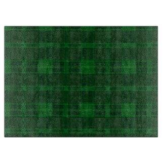 緑の格子縞のまな板 カッティングボード