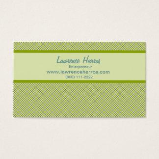 緑の格子縞 名刺