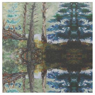 緑の森パターン ファブリック