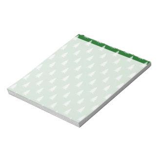 緑の森林パターン ノートパッド