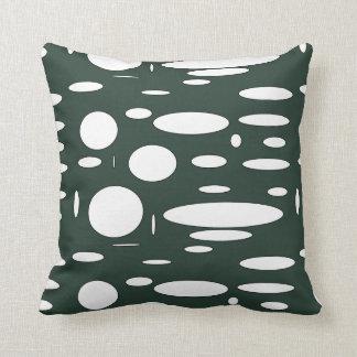 緑の森林楕円形パターン クッション