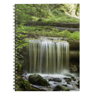 緑の森林滝のノート ノートブック