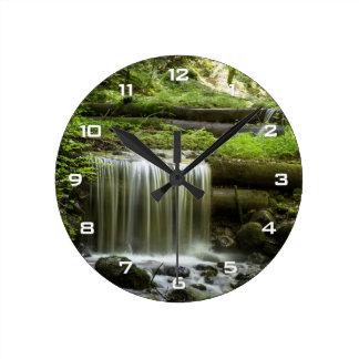 緑の森林滝の柱時計 ウォールクロック