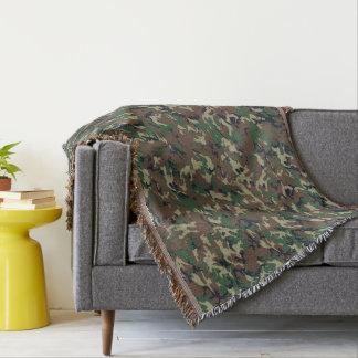 緑の森林軍のカムフラージュパターン スローブランケット
