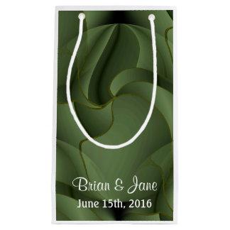 緑の植物の結婚式のギフトバッグ スモールペーパーバッグ