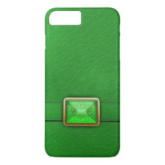 緑の模造のな革および宝石用原石の電話箱 iPhone 8 PLUS/7 PLUSケース