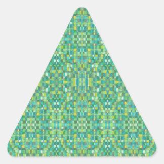緑の正方形 三角形シール