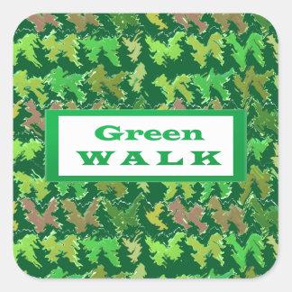 緑の歩行のgreenwalk スクエアシール