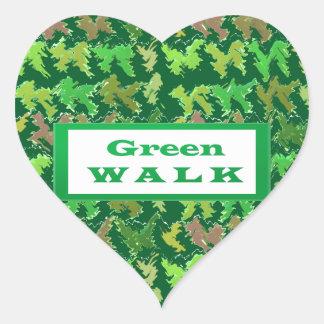 緑の歩行のgreenwalk ハートシール