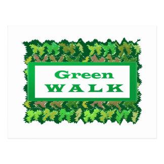緑の歩行のgreenwalk ポストカード