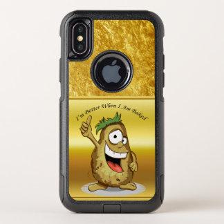 緑の毛を搭載するマンガのキャラクタのポテト オッターボックスコミューターiPhone X ケース