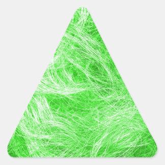 緑の毛皮 三角形シール
