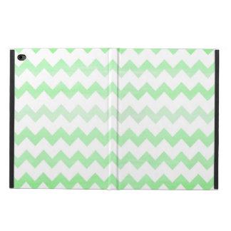 緑の水彩画のシェブロンのジグザグパターン POWIS iPad AIR 2 ケース