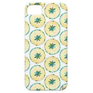緑の水彩画はパターンiPhoneの場合を一周します iPhone SE/5/5s ケース