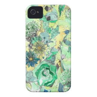 緑の水彩画は開花のiPhoneの箱をスケッチしました Case-Mate iPhone 4 ケース