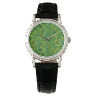 緑の水彩画 腕時計