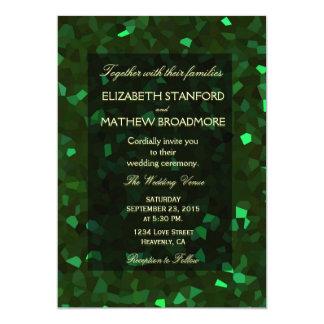 緑の水晶グリッター カード