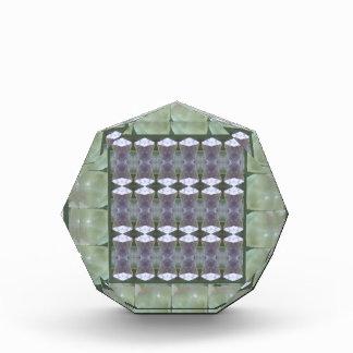 緑の水晶石造りの芸術の宝石のギフトの点検NVN694 表彰盾