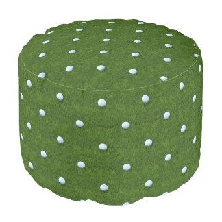 緑の水玉模様のゴルフ・ボールパターン プーフ