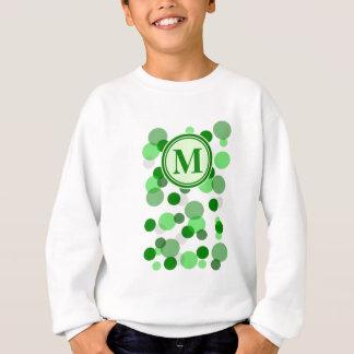 緑の水玉模様のモノグラム スウェットシャツ