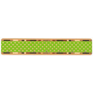 緑の水玉模様パターン キーラック