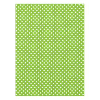 緑の水玉模様パターン テーブルクロス