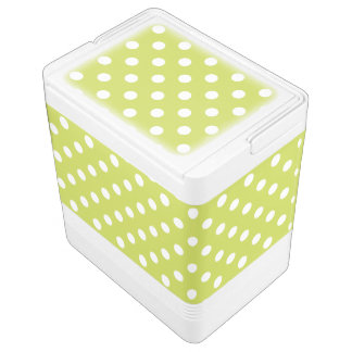 緑の水玉模様パターン IGLOOクーラーボックス