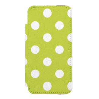 緑の水玉模様パターン INCIPIO WATSON™ iPhone 5 財布 ケース