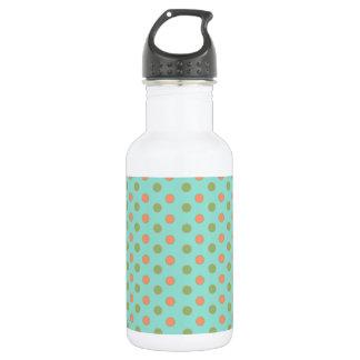 緑の水玉模様 ウォーターボトル