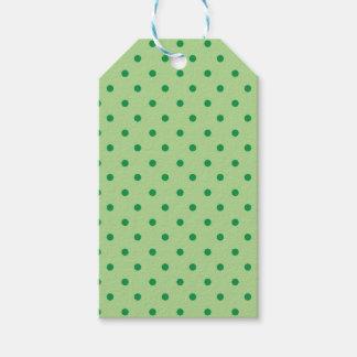 緑の水玉模様 ギフトタグ