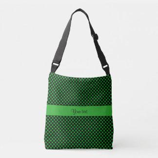 緑の水玉模様 クロスボディバッグ
