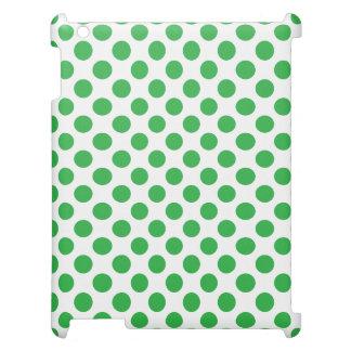 緑の水玉模様 iPadカバー