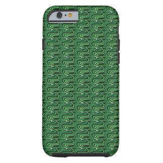 緑の波状のiPhone 6の電話箱 ケース