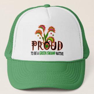 緑の泥地の原産のトラック運転手の帽子 キャップ