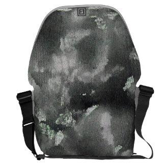 緑の洗濯できるマーカーの黒いインク メッセンジャーバッグ