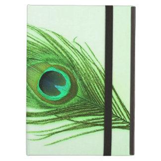緑の深緑色の孔雀の羽 iPad AIRケース