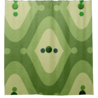 緑の渦巻のシャワー・カーテン シャワーカーテン