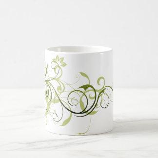 緑の渦巻 コーヒーマグカップ