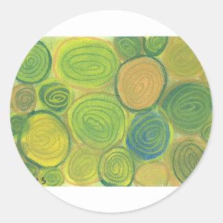 緑の渦巻 ラウンドシール
