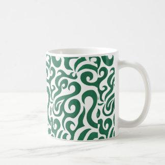 緑の渦巻(1) コーヒーマグカップ