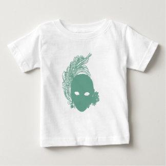緑の演劇的なマスク ベビーTシャツ
