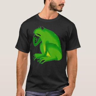 """緑の漫画のカエルの""""深くものを考える人""""のTシャツ Tシャツ"""